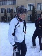 人生の中で一番頭に雪をかけられた瞬間