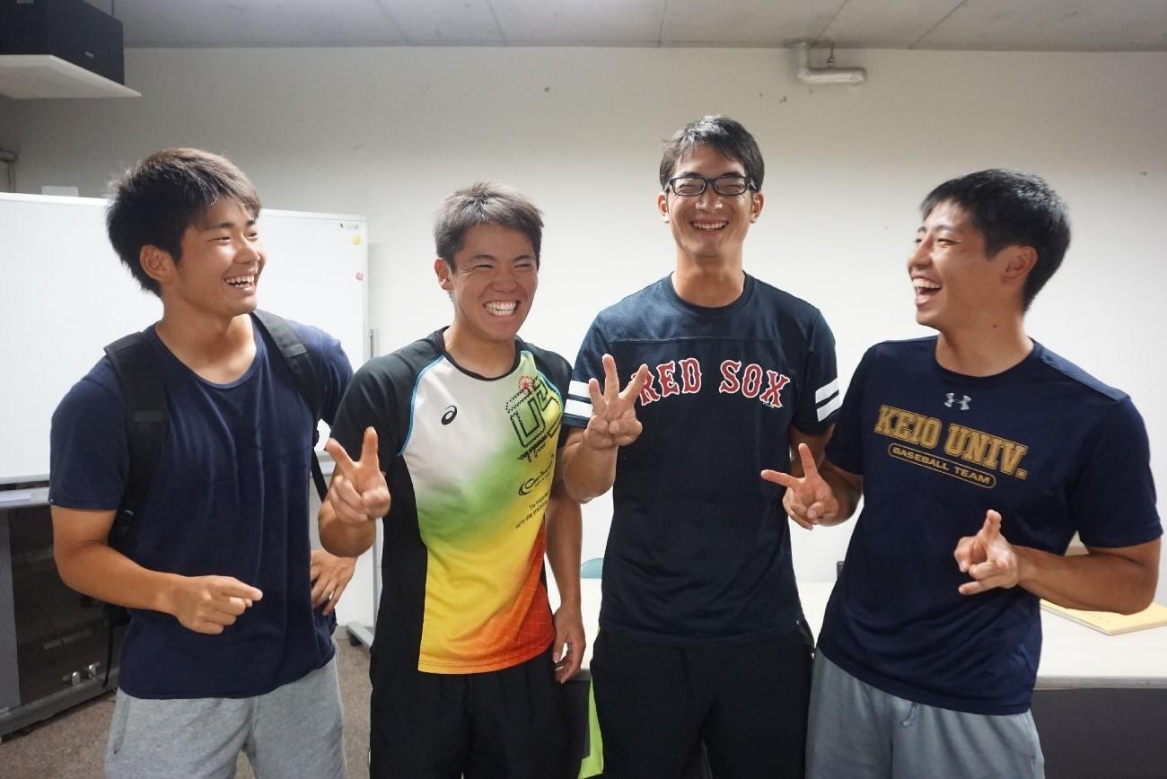 左から、川端、小原徳、藤川、松田拓
