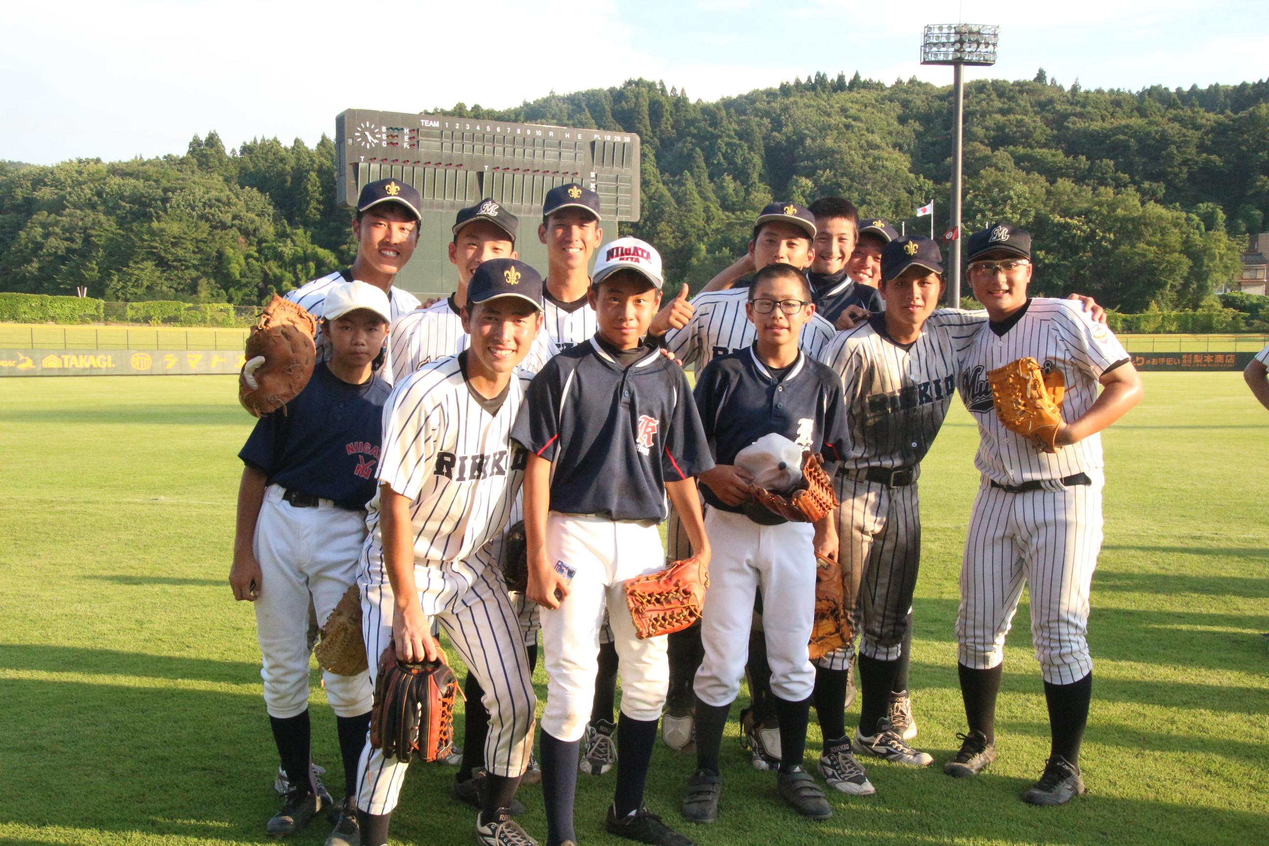 ①少年野球教室