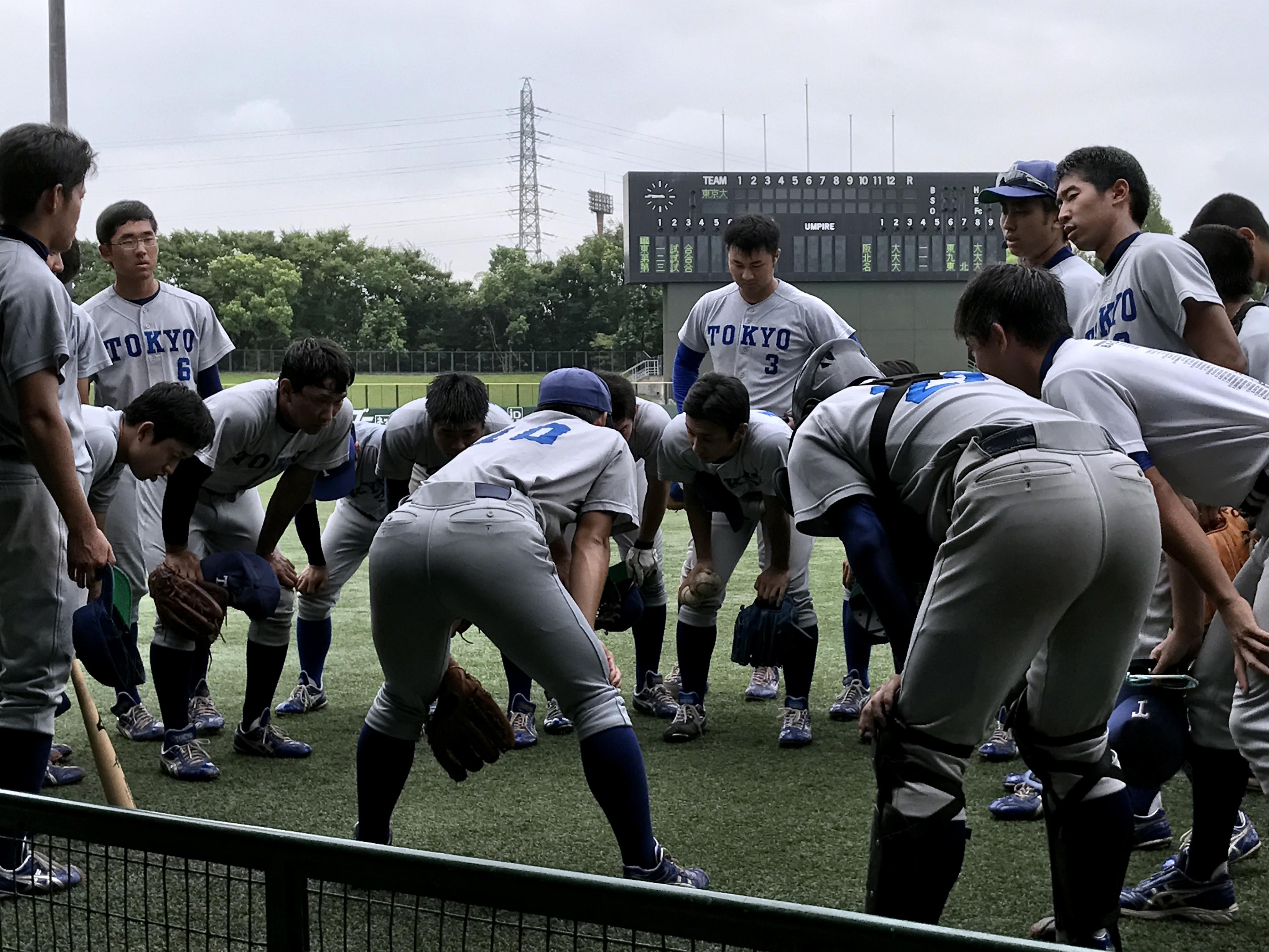 阪大戦_円陣